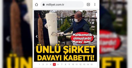 ALGİDA, 'MARAŞ DONDURMASI' DAVASINI KAYBETTİ