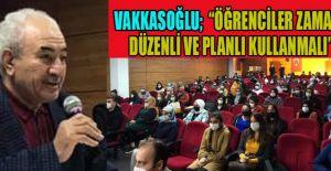 VAKKASOĞLU'NDAN ÇAĞLAYANCERİTLİ ÖĞRENCİLERE SINAV MOTİVASYONU KONFERANSI
