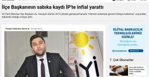 İYİ PARTİ ELBİSTAN İLÇE BAŞKANININ...