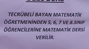 EĞİTİM, MERDİVEN ALTINDA!